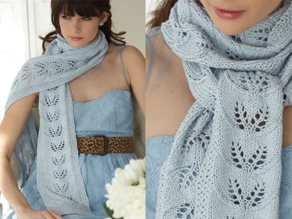 Free Lace Scarf Knitting Pattern Image Collections Knitting